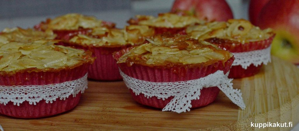 gluteenittomat omena-toscakuppikakut