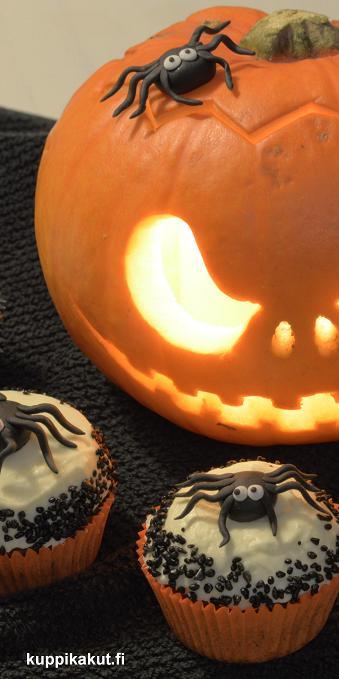 Halloween kurpitsa muffinssi